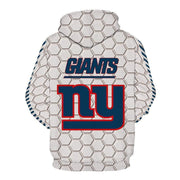 New York Giants Printed Hooded Pocket Pullover Sweater - diNeiLa