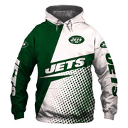 New York Jets Printed Hooded Pocket Sweater - diNeiLa
