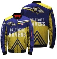 NFL Baltimore Ravens 3D Printed Full-Zip Sport Jacket - diNeiLa
