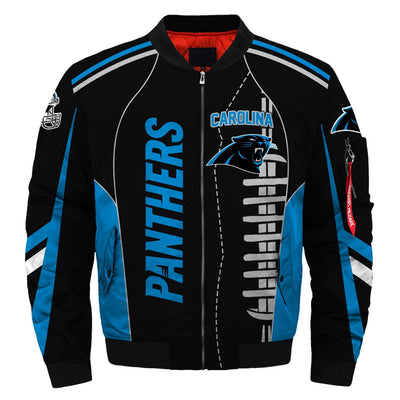 NFL Carolina Panthers 3D Printed Full-Zip Sport Jacket - diNeiLa