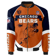NFL Chicago Bears 3D Printed Full-Zip Sport Jacket - diNeiLa