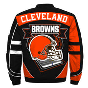 NFL Cleveland Browns 3D Printed Full-Zip Sport Jacket - diNeiLa