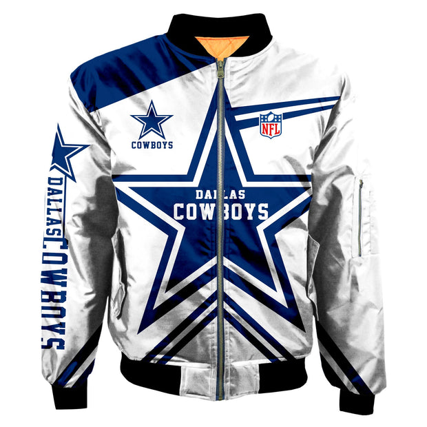 NFL Dallas Cowboys 3D Printed Full-Zip Sport Jacket - diNeiLa