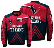 NFL Houston Texans 3D Printed Full-Zip Sport Jacket - diNeiLa