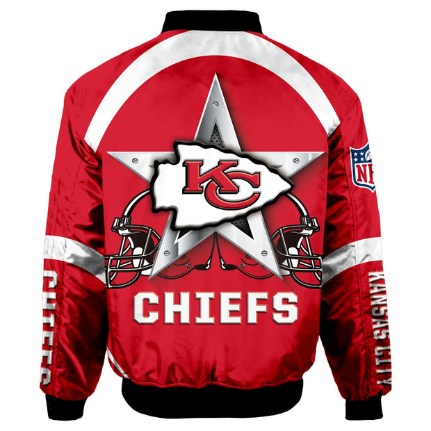 NFL Kansas City Chiefs 3D Printed Full-Zip Sport Jacket - diNeiLa