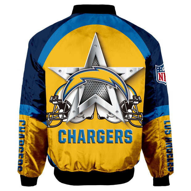 NFL Los Angeles Chargers 3D Printed Full-Zip Sport Jacket - diNeiLa