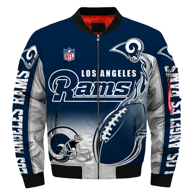 NFL Los Angeles Rams 3D Printed Full-Zip Sport Jacket - diNeiLa