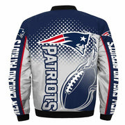 NFL New England Patriots 3D Printed Full-Zip Sport Jacket - diNeiLa