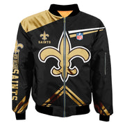 NFL New Orleans Saints 3D Printed Full-Zip Sport Jacket - diNeiLa