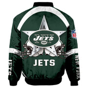 NFL New York Jets 3D Printed Full-Zip Sport Jacket - diNeiLa