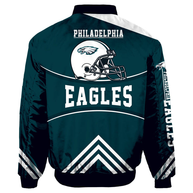 NFL Philadelphia Eagles 3D Printed Full-Zip Sport Jacket - diNeiLa