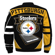 NFL Pittsburgh Steelers 3D Printed Full-Zip Sport Jacket - diNeiLa