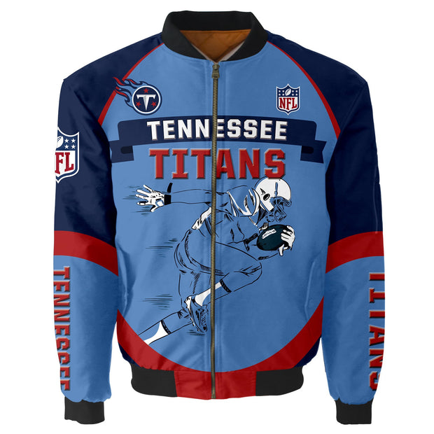 NFL Tennessee Titans 3D Printed Full-Zip Sport Jacket - diNeiLa