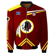 NFL Washington Redskins 3D Printed Full-Zip Sport Jacket - diNeiLa