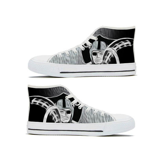 Oakland Las Vegas Raiders High Top Shoes - diNeiLa