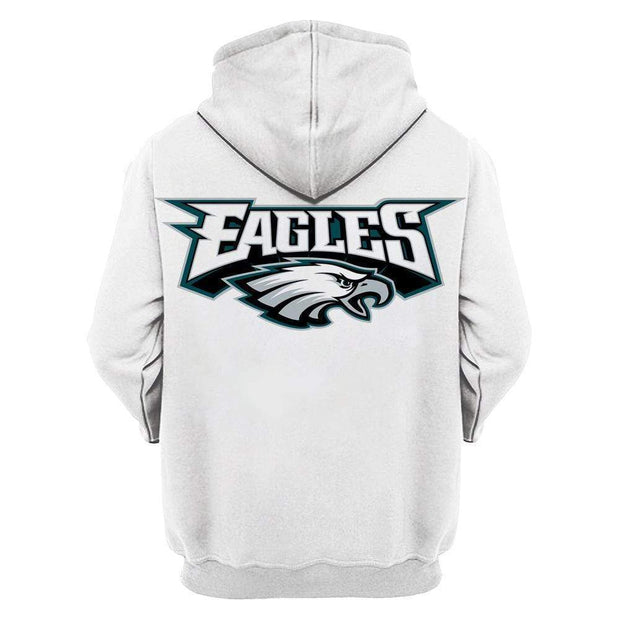 Philadelphia Eagles 3D Printed Hooded Pocket Pullover Sweater - diNeiLa