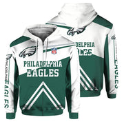Philadelphia Eagles 3D Printed Zipper Hoodie - diNeiLa