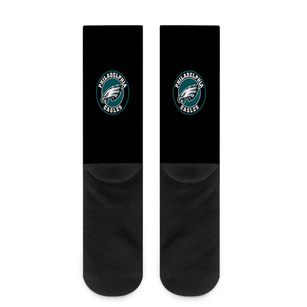 Philadelphia Eagles For Bare Feet Crew Socks - diNeiLa
