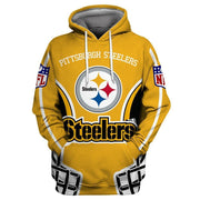 Pittsburgh Steelers 3D Printed Hooded Pocket Pullover Hoodie - diNeiLa