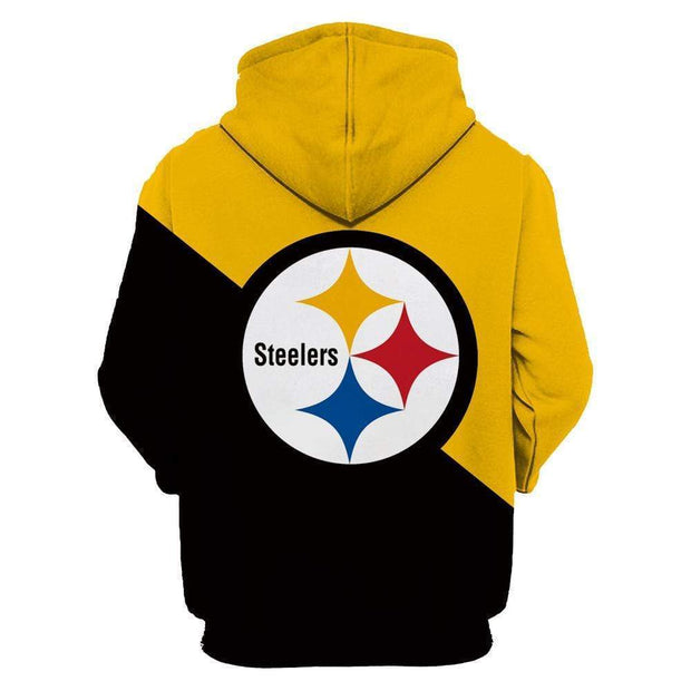 Pittsburgh Steelers 3D Printed Hooded Pocket Pullover Sweater - diNeiLa