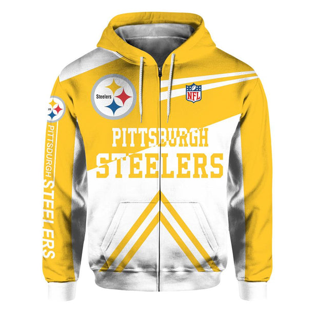 Pittsburgh Steelers 3D Printed Zipper Hoodie - diNeiLa