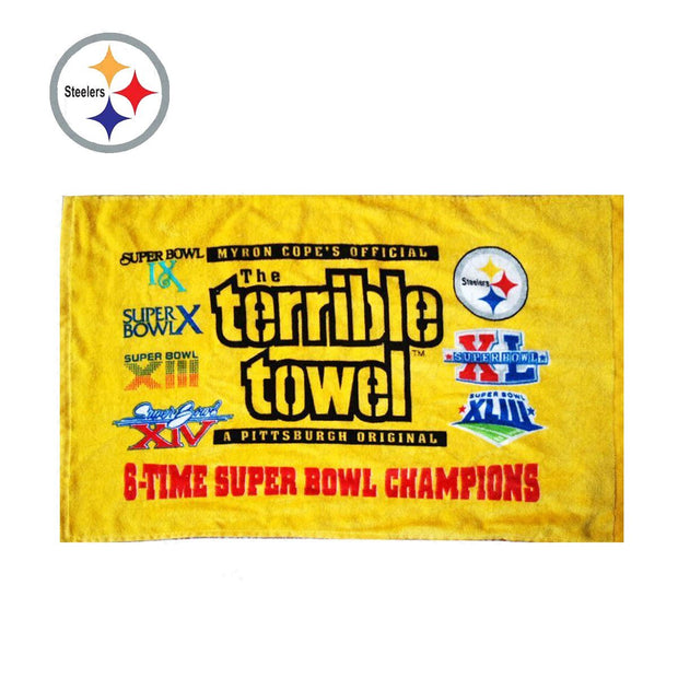 Pittsburgh Steelers 6-TIME Super Bowl Champs Terrible Towel - diNeiLa