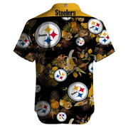 Pittsburgh Steelers Hawaiian Shirt Slim Fit Body - diNeiLa
