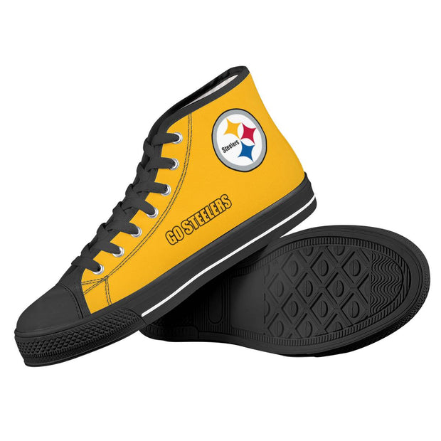 Pittsburgh Steelers High Top Shoes - diNeiLa
