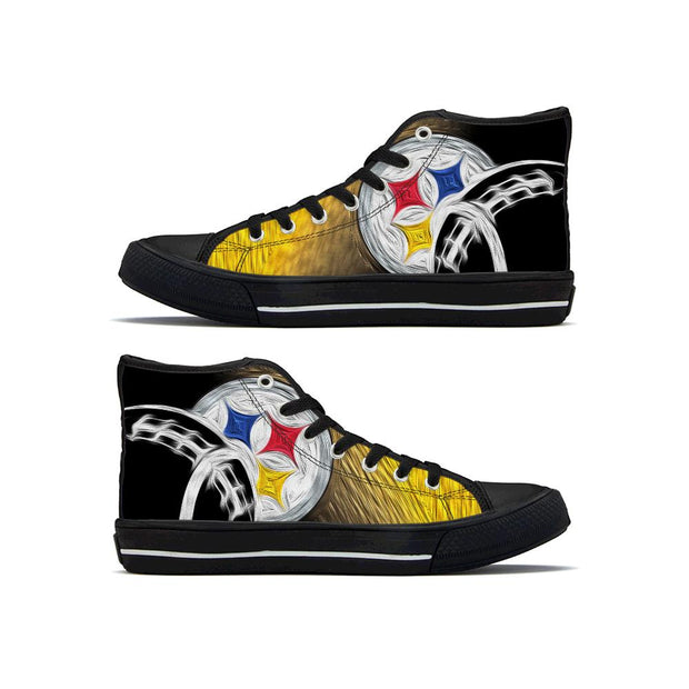 Pittsburgh Steelers High Top Shoes For Wen Women - diNeiLa