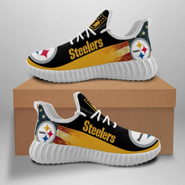 Pittsburgh Steelers Sneakers Big Logo Yeezy Shoes For Men Women - diNeiLa