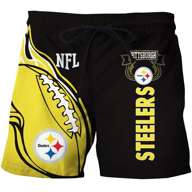 Pittsburgh Steelers Summer Beach Shorts - diNeiLa