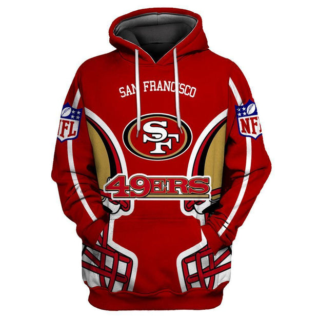 San Francisco 49ers 3D Printed Hooded Pocket Pullover Hoodie-03 - diNeiLa