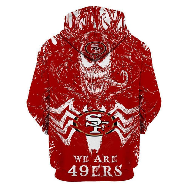 San Francisco 49ers 3D Printed Hooded Pocket Pullover Hoodie - diNeiLa
