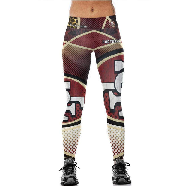 San Francisco 49ers 3D Printed Running Yoga Pants - diNeiLa