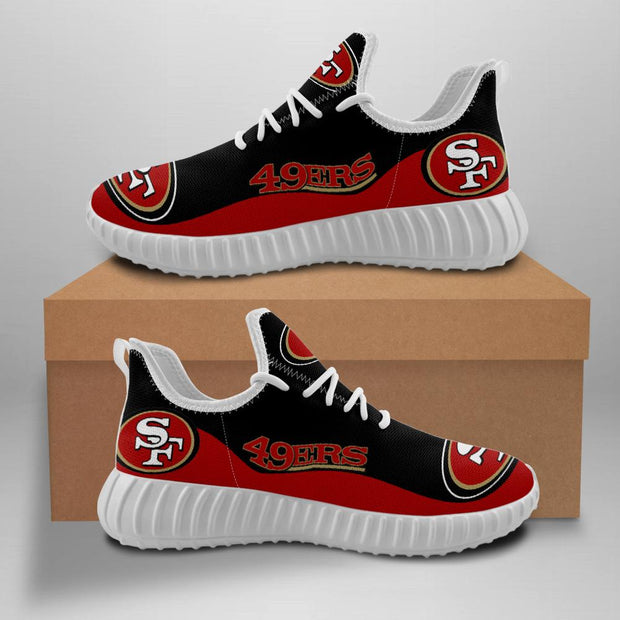 San Francisco 49ers Sneakers Big Logo Yeezy Shoes - diNeiLa