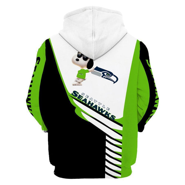 Seattle Seahawks 3D Printed Hooded Pocket Pullover Hoodie - diNeiLa