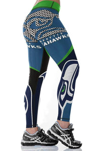 Seattle Seahawks 3D printed sexy fitness yoga pants - diNeiLa