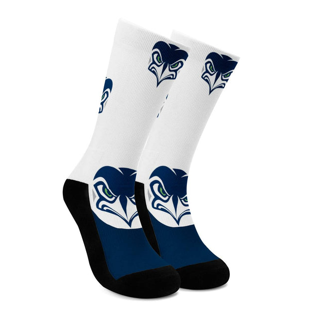 Seattle Seahawks For Bare Feet Crew Socks - diNeiLa