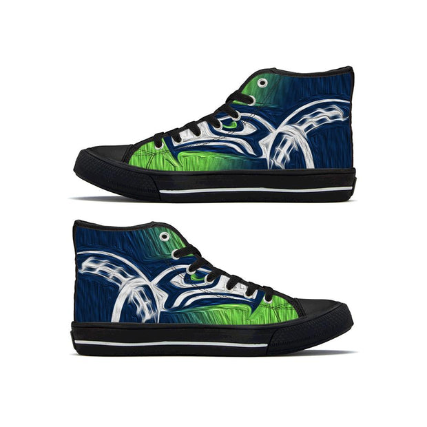 Seattle Seahawks High Top Shoes - diNeiLa