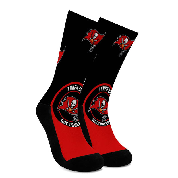 Tampa Bay Buccaneers For Bare Feet Crew Socks - diNeiLa