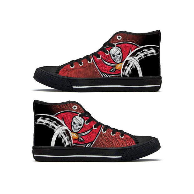 Tampa Bay Buccaneers High Top Shoes - diNeiLa