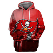 Tampa Bay Buccaneers Printed Hooded Pocket Pullover Sweater - diNeiLa