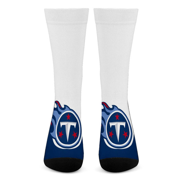 Tennessee Titans For Bare Feet Crew Socks - diNeiLa