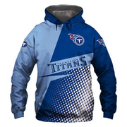 Tennessee Titans Printed Hooded Pocket Sweater - diNeiLa