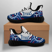 Tennessee Titans Sneakers Big Logo Yeezy Shoes - diNeiLa