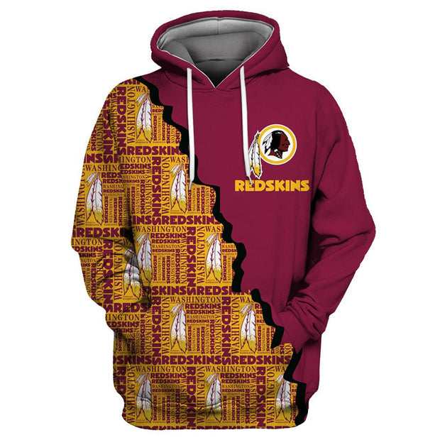 Washington Redskins 3D Printed Hooded Pocket Pullover Hoodie - diNeiLa