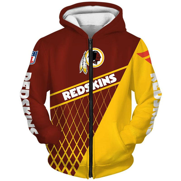 Washington Redskins 3D Printed Zipper Hoodie - diNeiLa