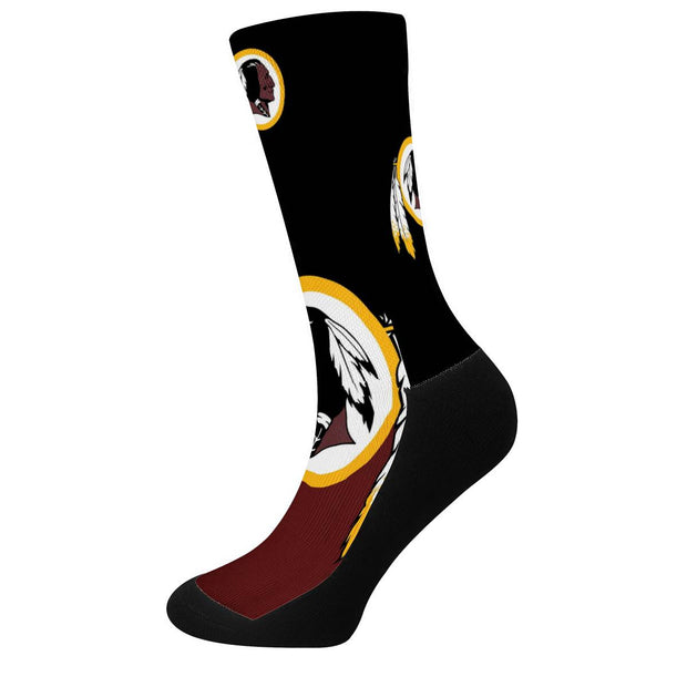 Washington Redskins For Bare Feet Crew Socks - diNeiLa