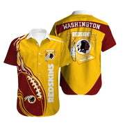 Washington Redskins Hawaiian Shirt Slim Fit Body - diNeiLa