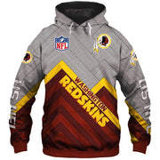 Washington Redskins Hoodie 3D Sweatshirt Pullover - diNeiLa